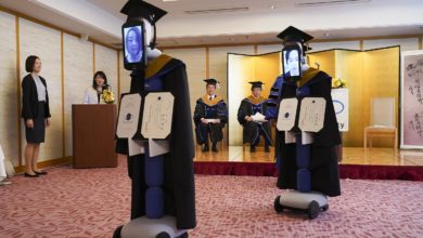 Photo of ROBOTS ATTEND GRADUATION IN PLACE OF STUDENTS AT JAPANESE UNIVERSITY