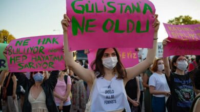 Photo of Protests in Turkey over possible withdrawal from treaty preventing domestic violence