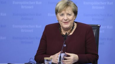 Photo of EU leaders pay tribute to Merkel as she attends her last summit in Brussels